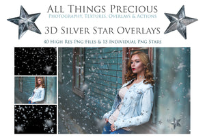 3D SILVER STAR Digital Overlays