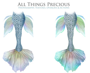 SWISH MERMAID TAILS - Digital Overlays