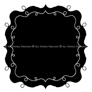 HAND DRAWN SWIRLY CLIPPING MASK FRAMES Set 3