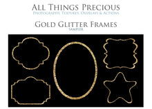 Load image into Gallery viewer, GOLD GLITTER FRAMES - Clipart
