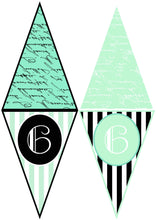 Load image into Gallery viewer, FRENCH BUNTING, Printable Png Banner - GREEN - Clipart