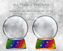 Load image into Gallery viewer, SNOW GLOBE Png Digital Overlays No. 14
