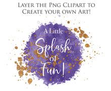 Load image into Gallery viewer, Copy of WATERCOLOUR SPLASHES - Gold & Mauve - Clipart