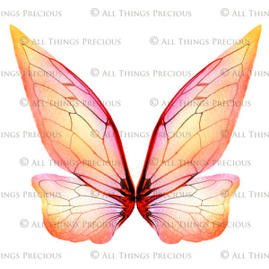 20 Png TRANSPARENT FAIRY WING Overlays Set 2