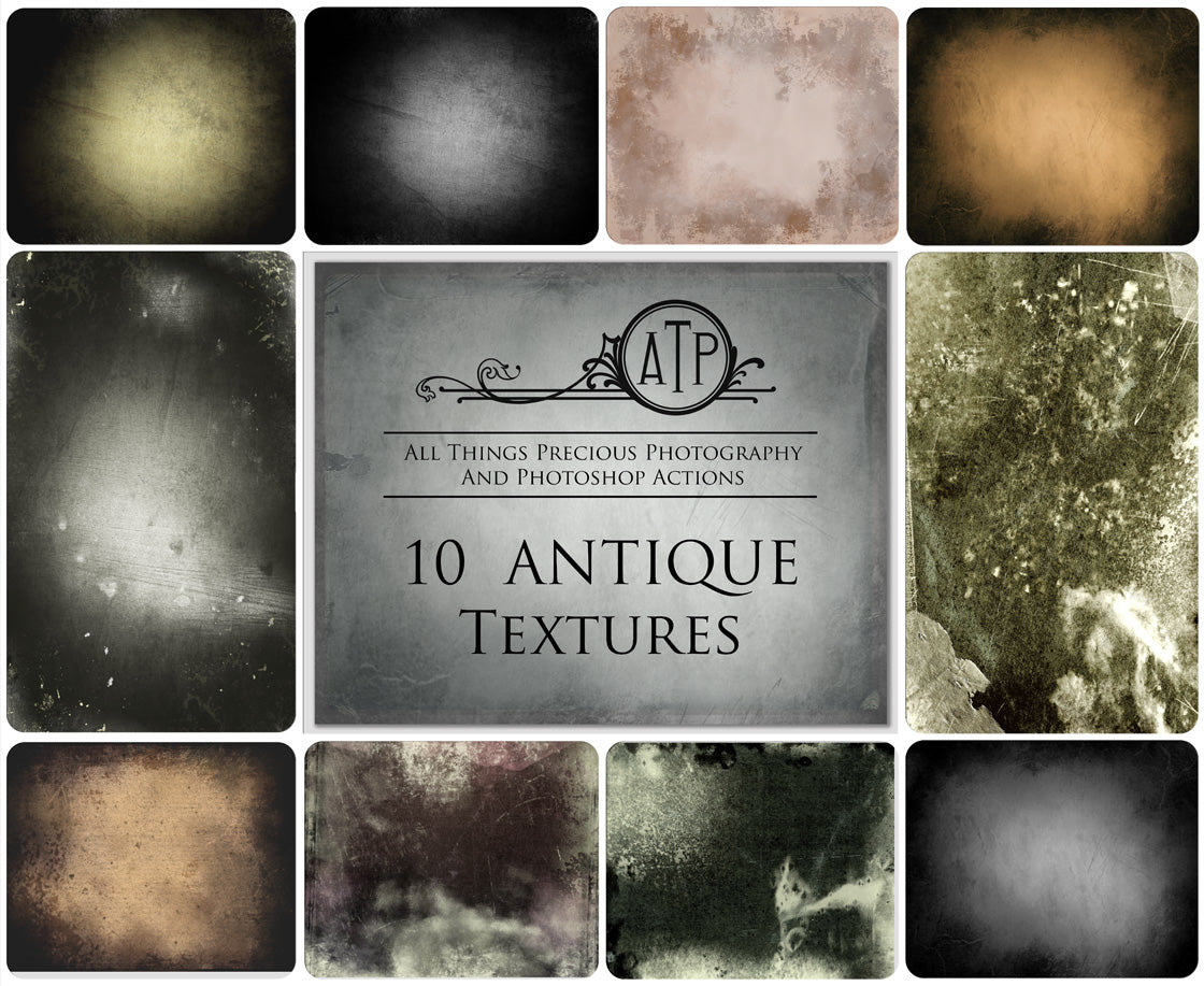 10 Fine Art TEXTURES - ANTIQUE Set 1