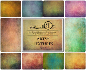10 Fine Art ARTSY High Resolution TEXTURES Set 5