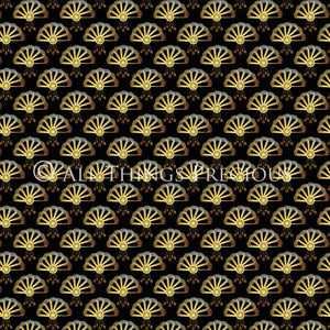 ART DECO - BLACK & GOLD Digital Papers Set 1