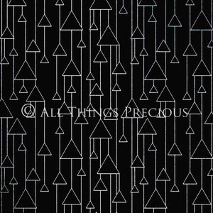 ART DECO - BLACK & SILVER Digital Papers Set 3