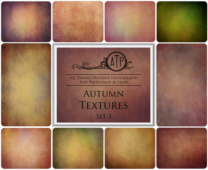 10 Fine Art TEXTURES - AUTUMN Set 3