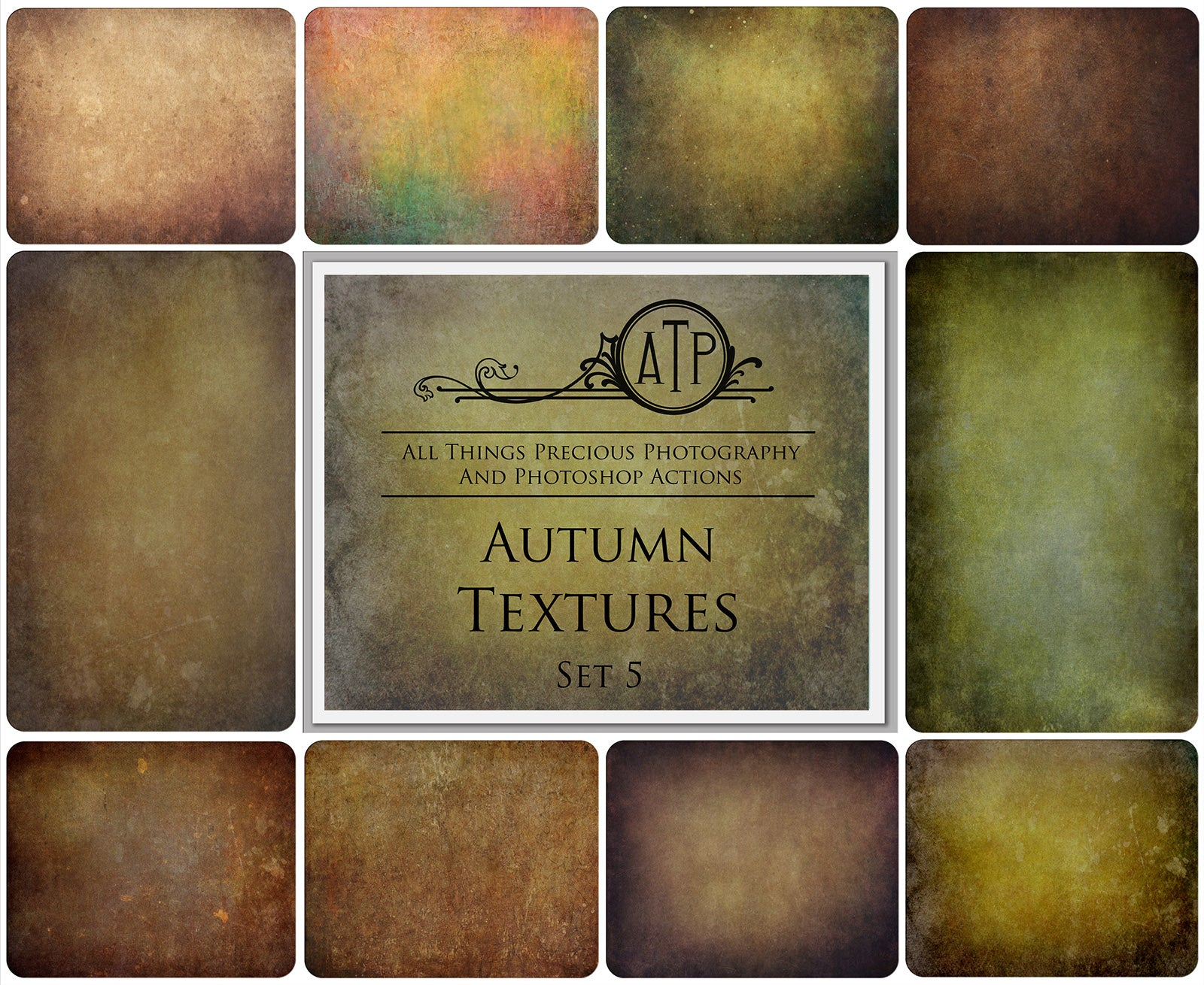 10 Fine Art TEXTURES - AUTUMN / FALL Set 5