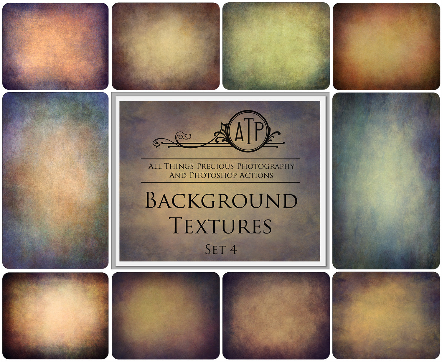 10 Fine Art TEXTURES - BACKGROUND Set 4