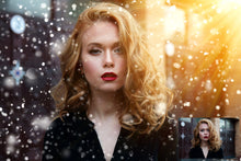 Load image into Gallery viewer, BOKEH SNOW with WINTER SUNLIGHT Digital Overlays