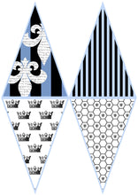 Load image into Gallery viewer, FRENCH BUNTING, Printable Png Banner - BLUE - Clipart