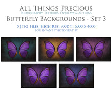 Load image into Gallery viewer, DIGITAL BACKDROP - Butterflies Set 3