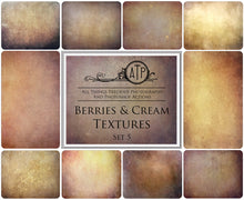 Load image into Gallery viewer, 10 Fine Art TEXTURES - BERRIES & CREAM Set 5