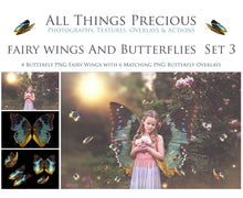 Load image into Gallery viewer, FAIRY WINGS and BUTTERFLIES Set 3