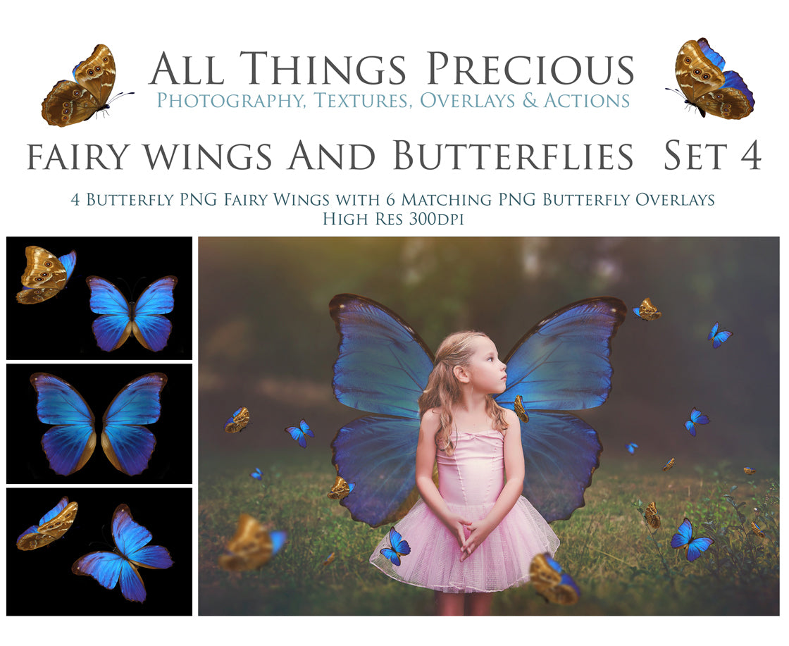 FAIRY WINGS and BUTTERFLIES Set 4