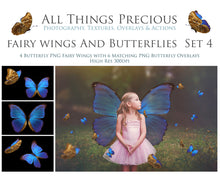 Load image into Gallery viewer, FAIRY WINGS and BUTTERFLIES Set 4