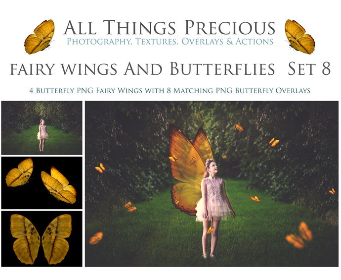 FAIRY WINGS and BUTTERFLIES Set 8