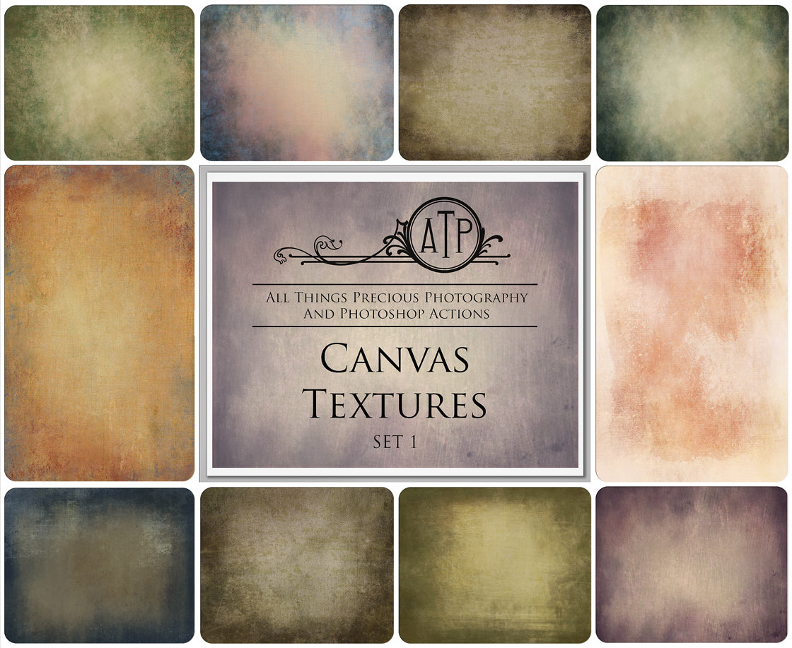 10 Fine Art TEXTURES - CANVAS Set 1