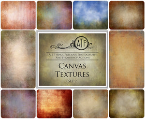 10 Fine Art TEXTURES - CANVAS Set 2