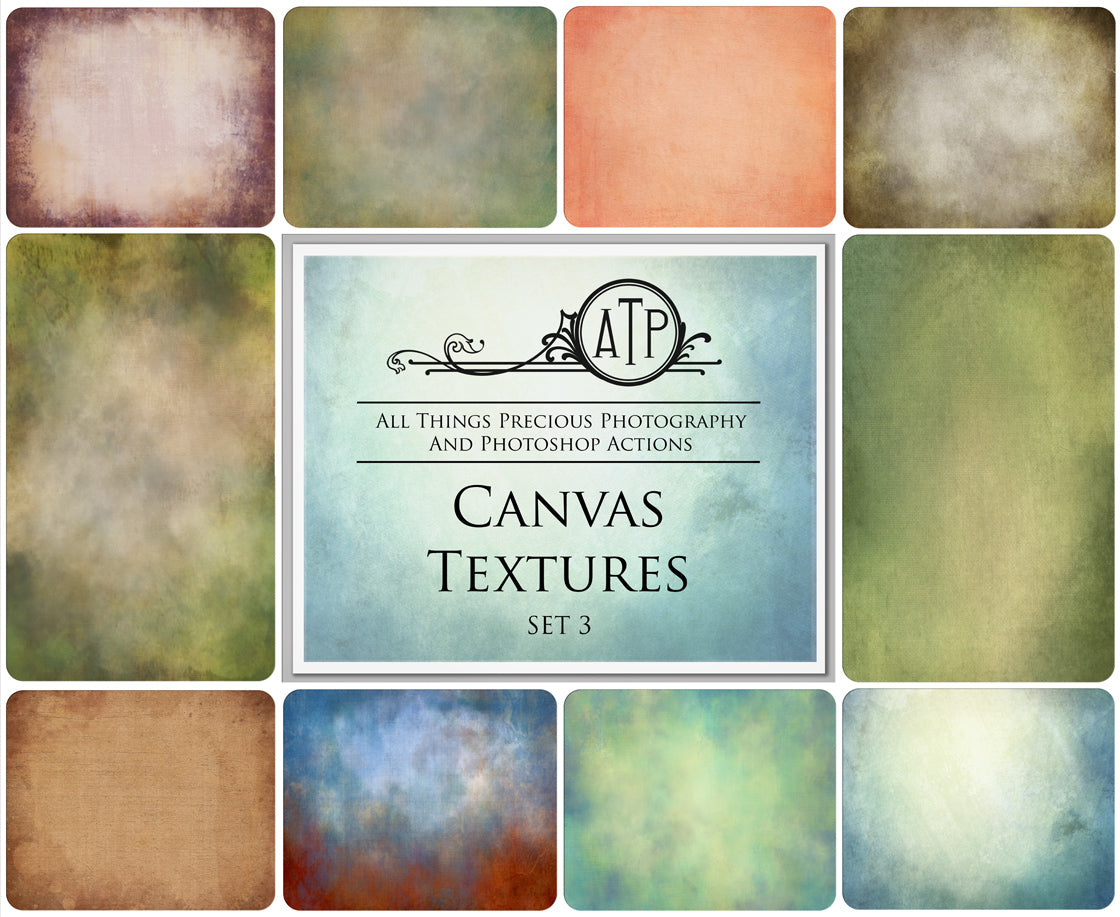 10 Fine Art TEXTURES - CANVAS Set 3