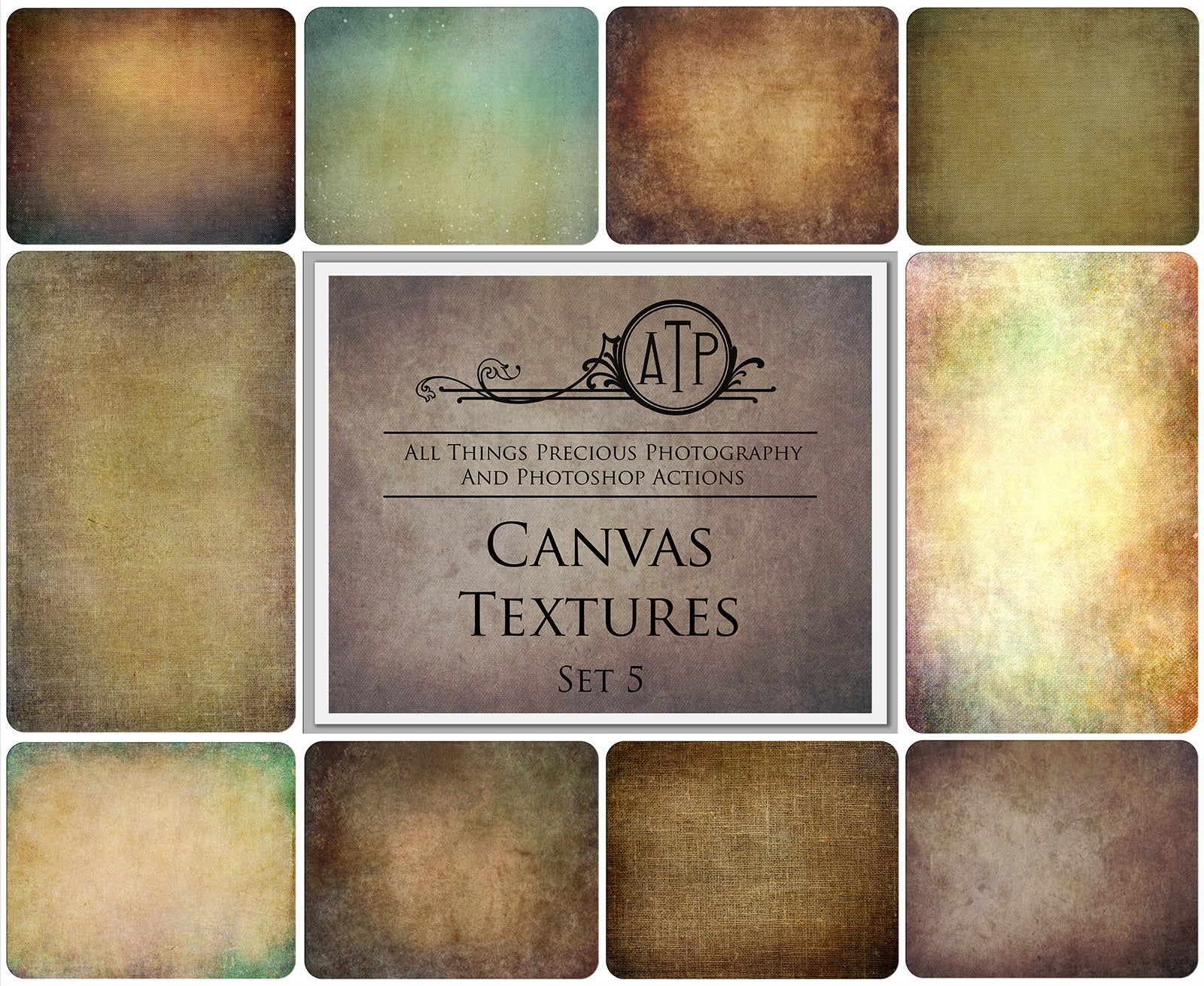 10 Fine Art TEXTURES - CANVAS Set 5