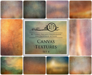 10 Fine Art CANVAS High Resolution TEXTURES Set 4