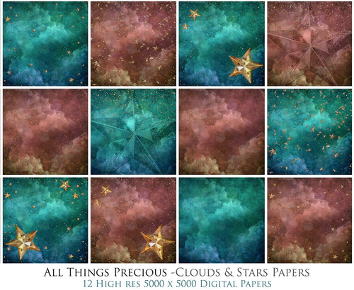 CLOUDS & STARS Digital Papers