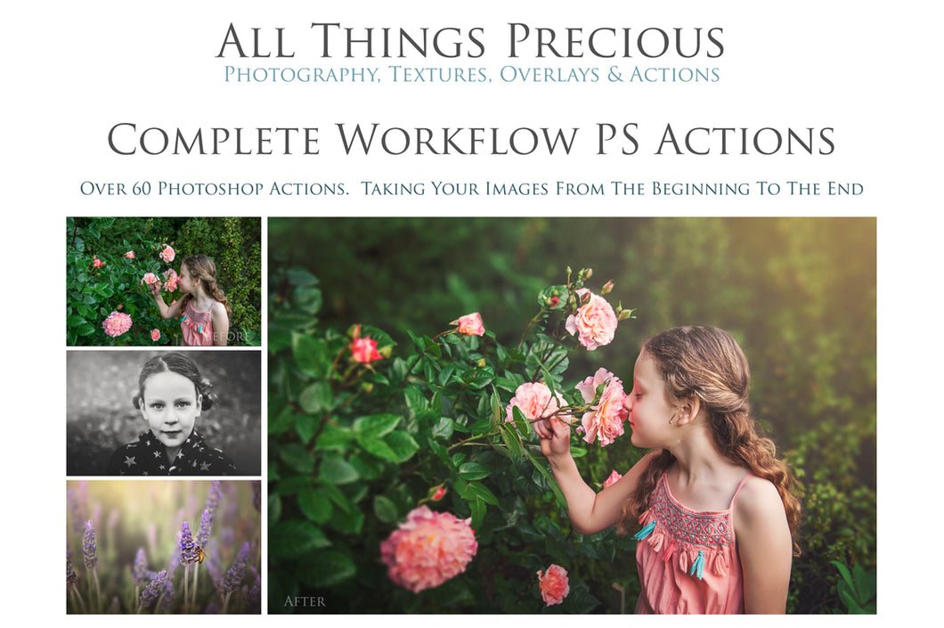 60 COMPLETE WORKFLOW PROFESSIONAL Photoshop Actions