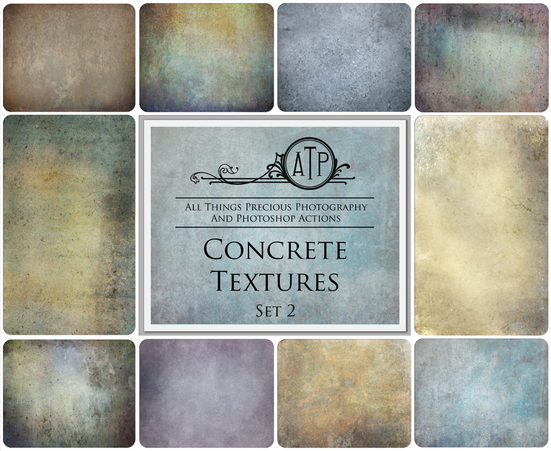 10 Fine Art TEXTURES - CONCRETE Set 2