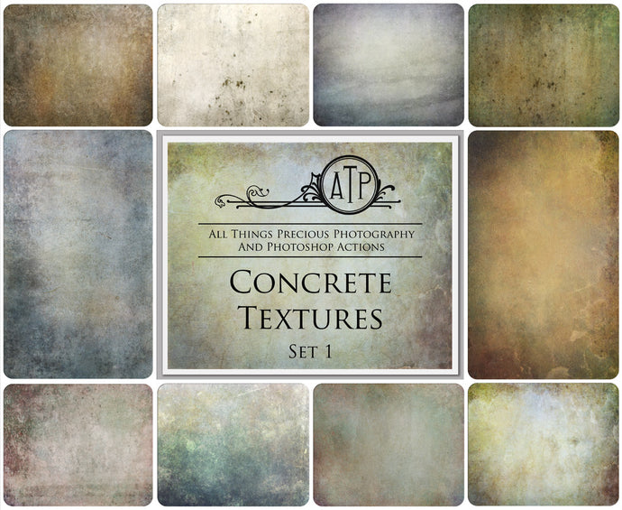 10 Fine Art CONCRETE High Resolution TEXTURES Set 1