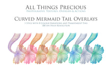 Load image into Gallery viewer, CURVE MERMAID TAILS - Digital Overlays
