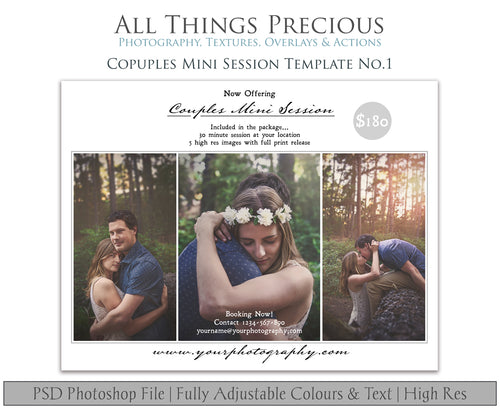 COUPLES MINI SESSION - PSD Template No. 1