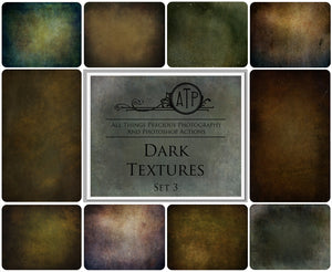 10 Fine Art TEXTURES - DARK Set 3