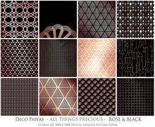 Load image into Gallery viewer, ART DECO - ROSE & GOLD Digital Papers Set 4