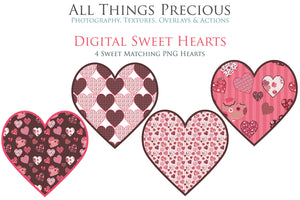 SWEET HEART Digital Papers Set 2