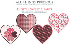 Load image into Gallery viewer, SWEET HEART Digital Papers Set 6