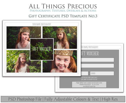 GIFT CERTIFICATE - PSD Template No. 3