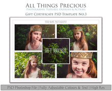 Load image into Gallery viewer, Template Set No.2  GIFT Certificate / MINI Session / PRINT Release BUNDLE