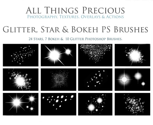 GLITTER, STARS & BOKEH Photoshop Brushes