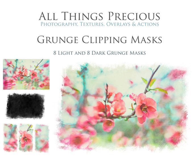 GRUNGE CLIPPING MASKS