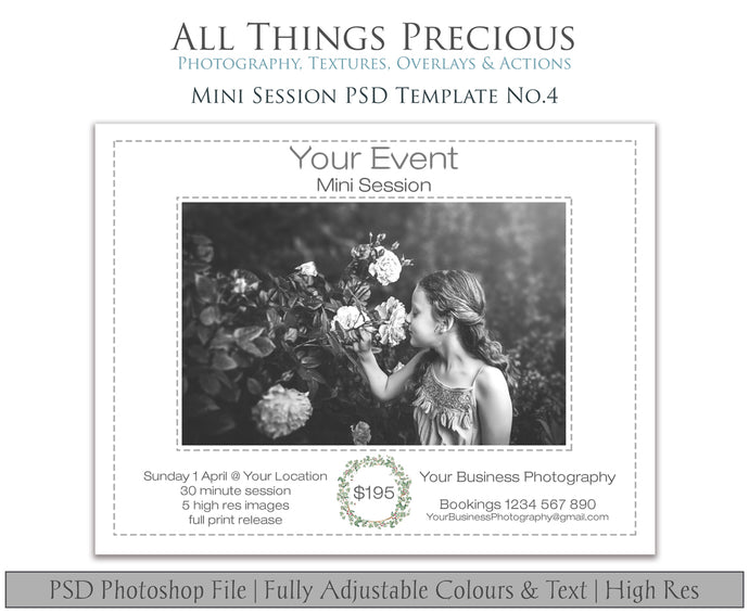 MINI SESSION - PSD Template No. 4