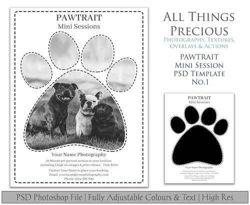 PAWTRAIT MINI SESSION - PSD Template No. 1