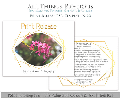 PRINT RELEASE - PSD Template No. 3