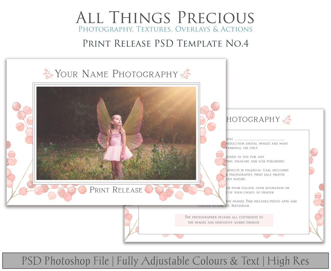 PRINT RELEASE - PSD Template No. 4