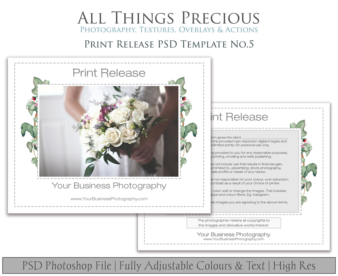 PRINT RELEASE - PSD Template No. 5