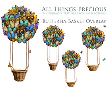 Load image into Gallery viewer, BUTTERFLY BASKET Digital Overlays Clipart