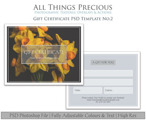 GIFT CERTIFICATE - PSD Template No. 2