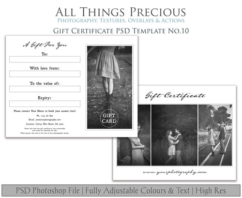 GIFT CERTIFICATE - PSD Template No. 10